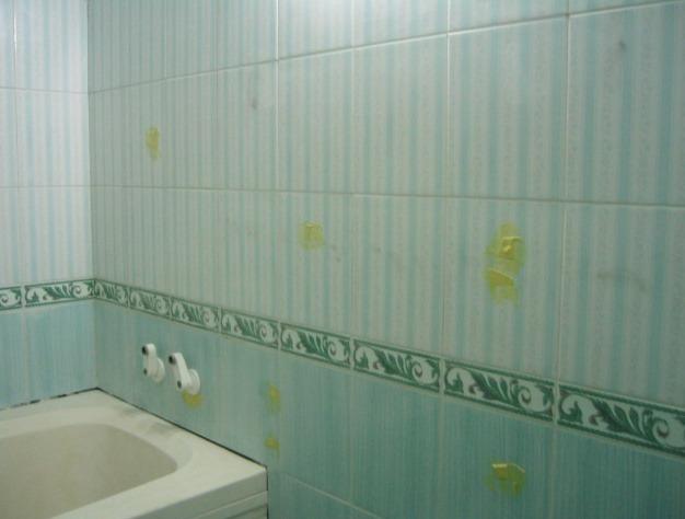 지저분한 욕실타일, 욕조를 페인트로 칠해 욕실인테리어 도전하기