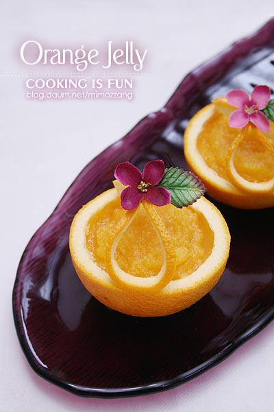 봄빛을 닮은 상큼한 오렌지젤리