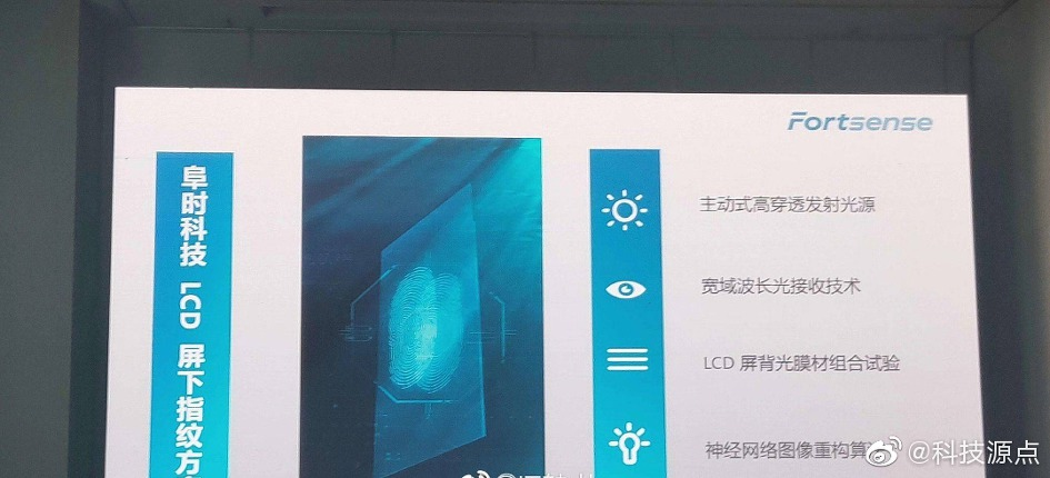 중국 FORTSENSE, 첫 LCD지원 지문센서 솔루션 발표