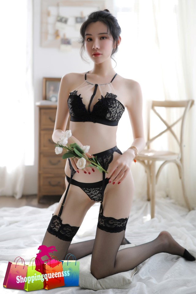 cool Asian woman in lingerie