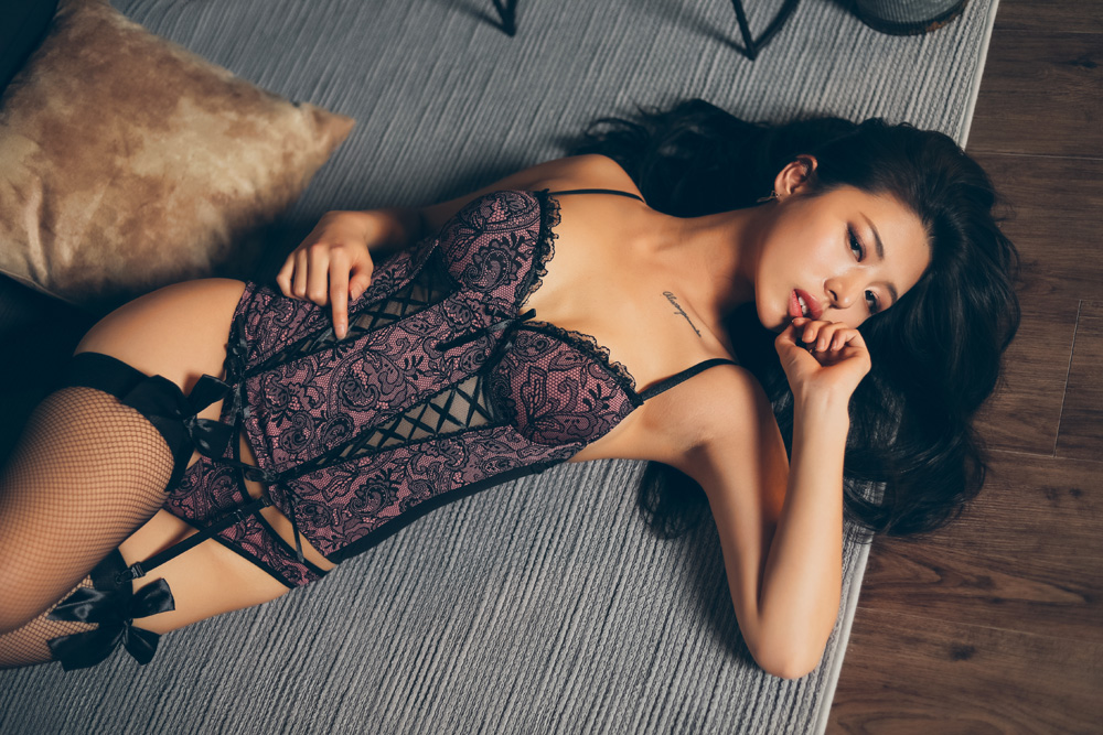 hot Korean in sexy lingerie