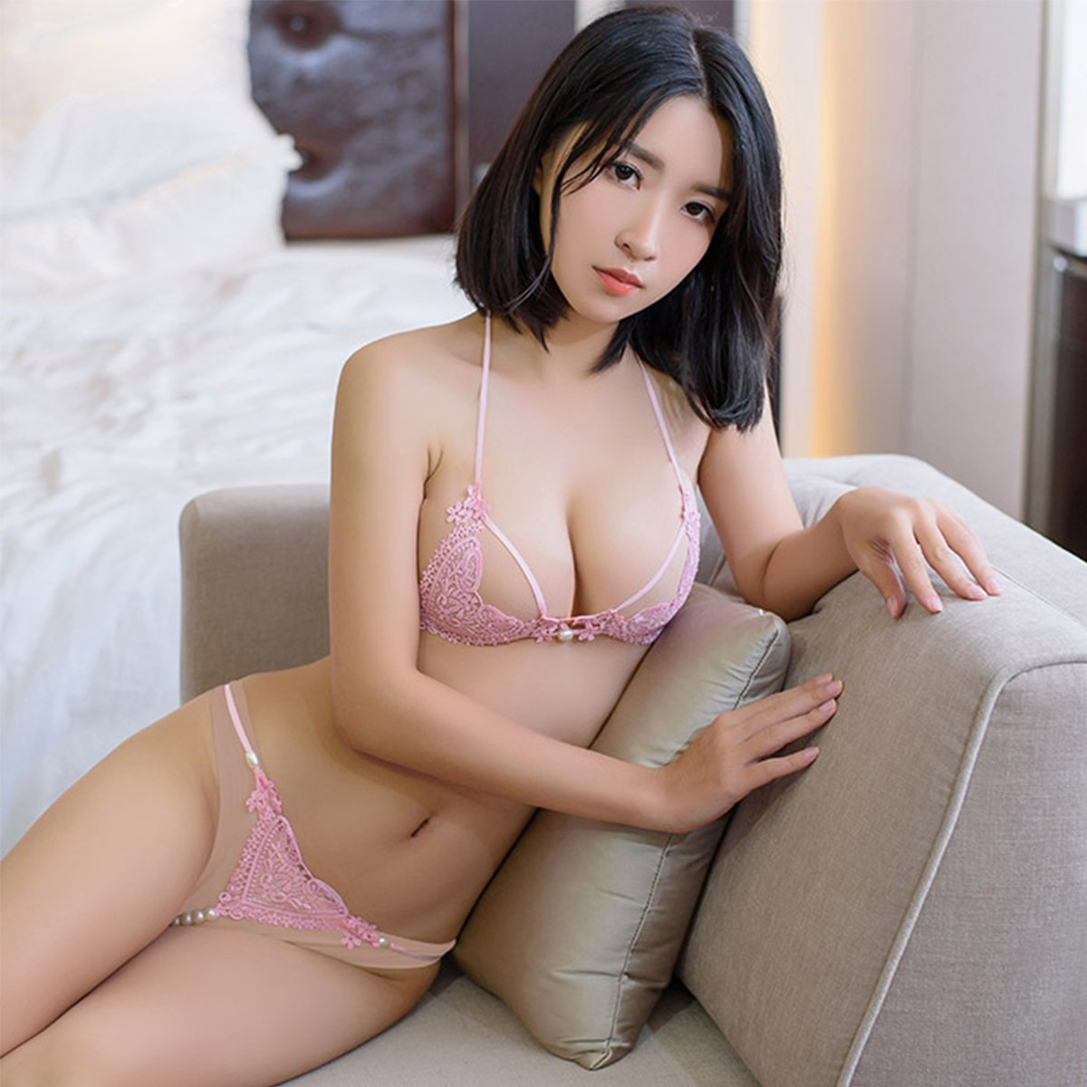 cool Asian girl in lingerie