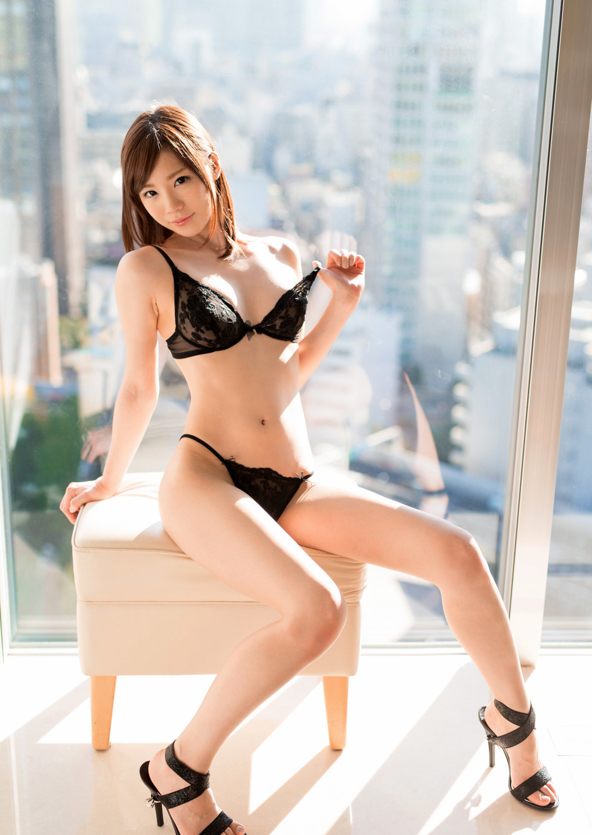 hot Japanese in sexy lingerie